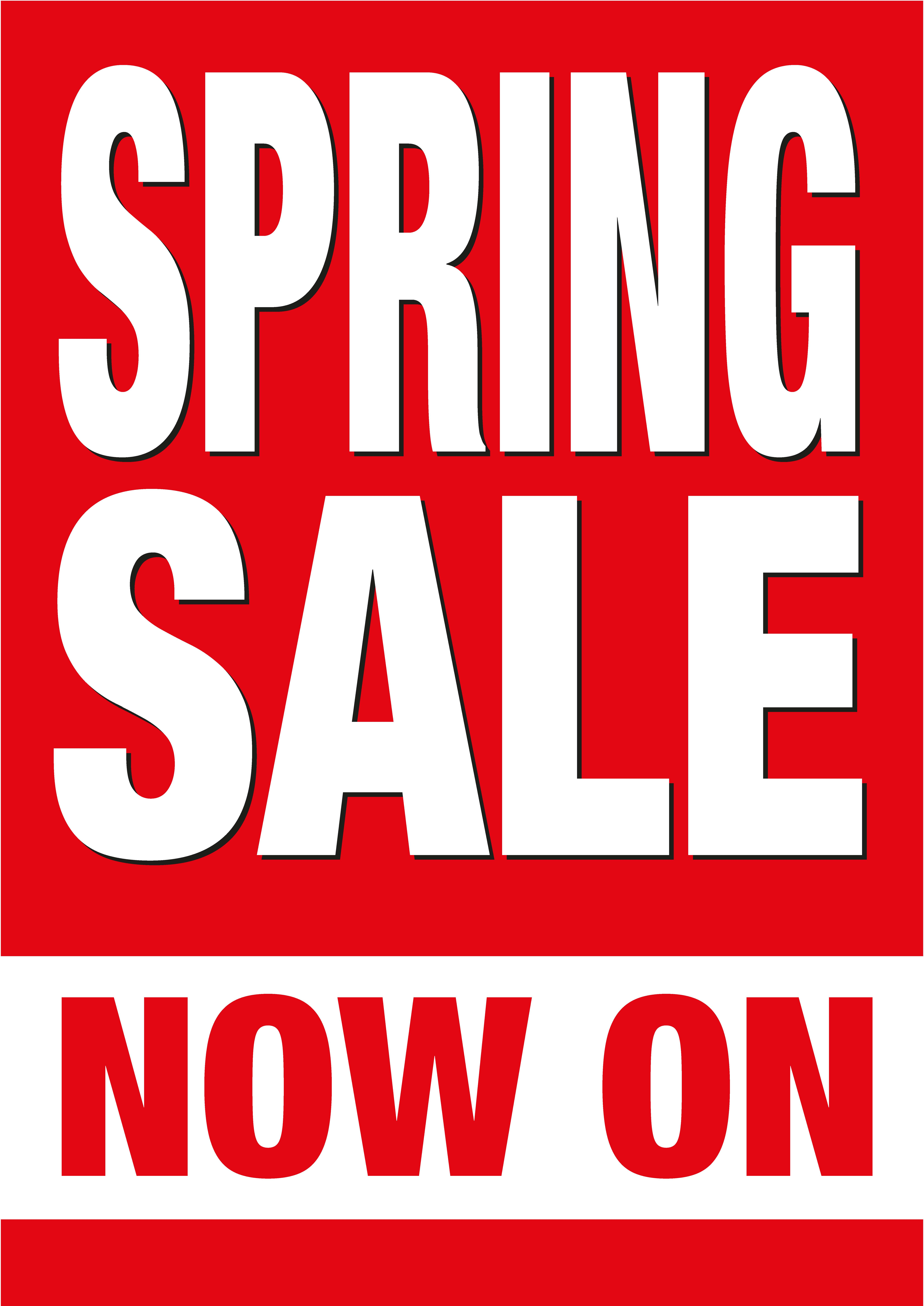 spring sale posters